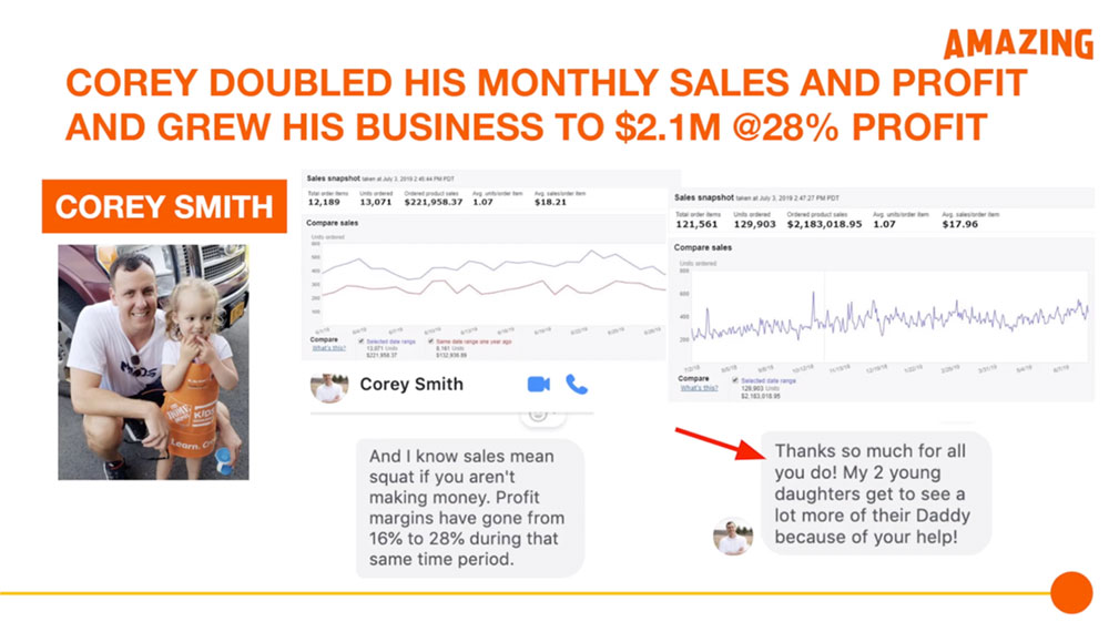 Corey Doubled His Monthly Sales
