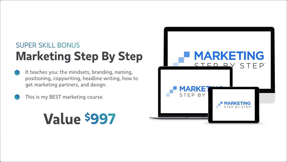 Virtual Coach Bonus #2 -  Marketing Step By Step