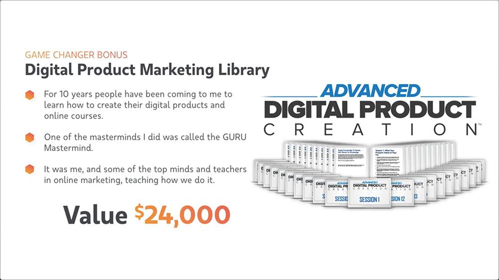 Virtual Coach Bonus #5 - Digital Product Marketing Library