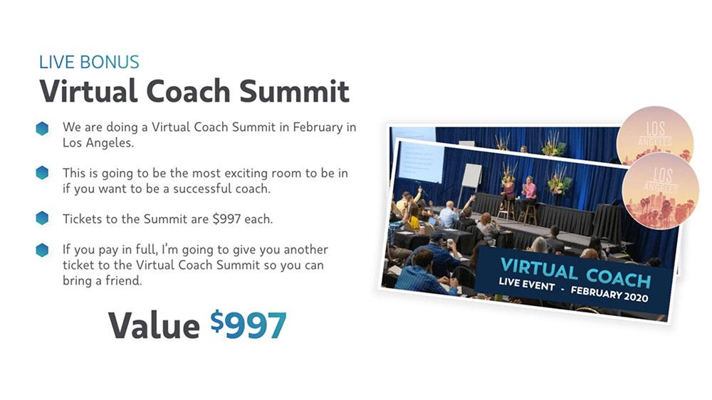 Virtual Coach Bonus #6 - Virtual Coach Summit
