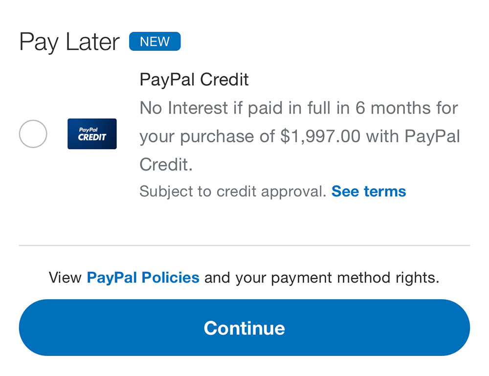 Pay 6 months later