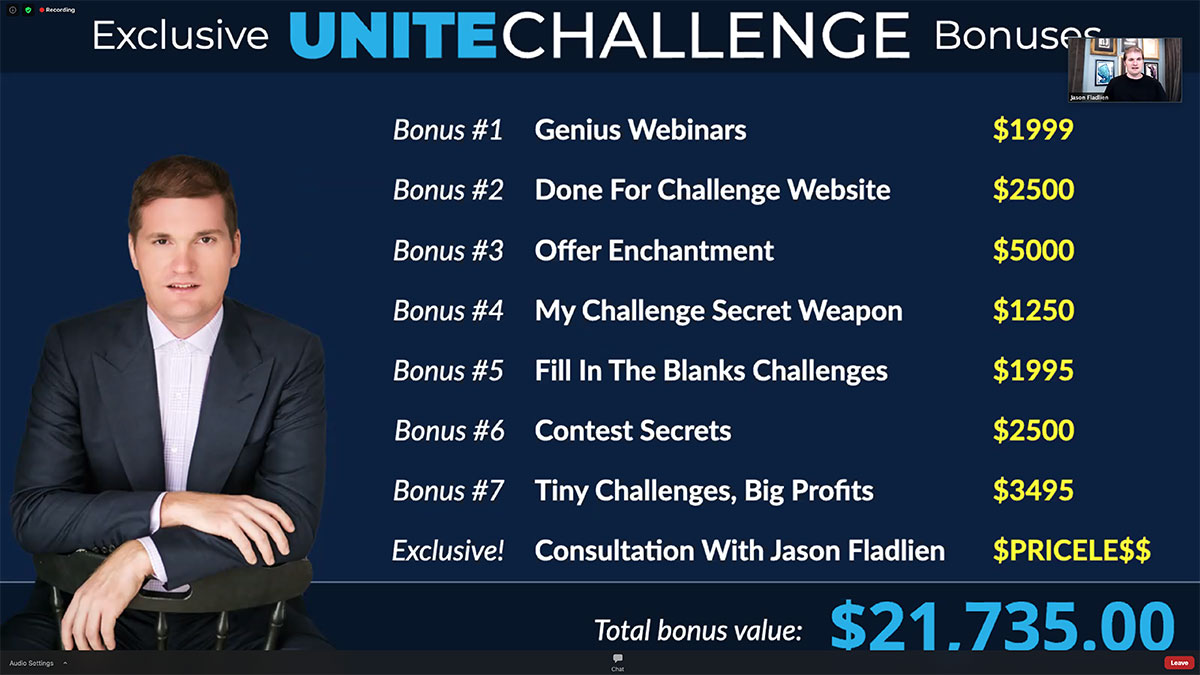 exclusive bonuses crush it with challenges