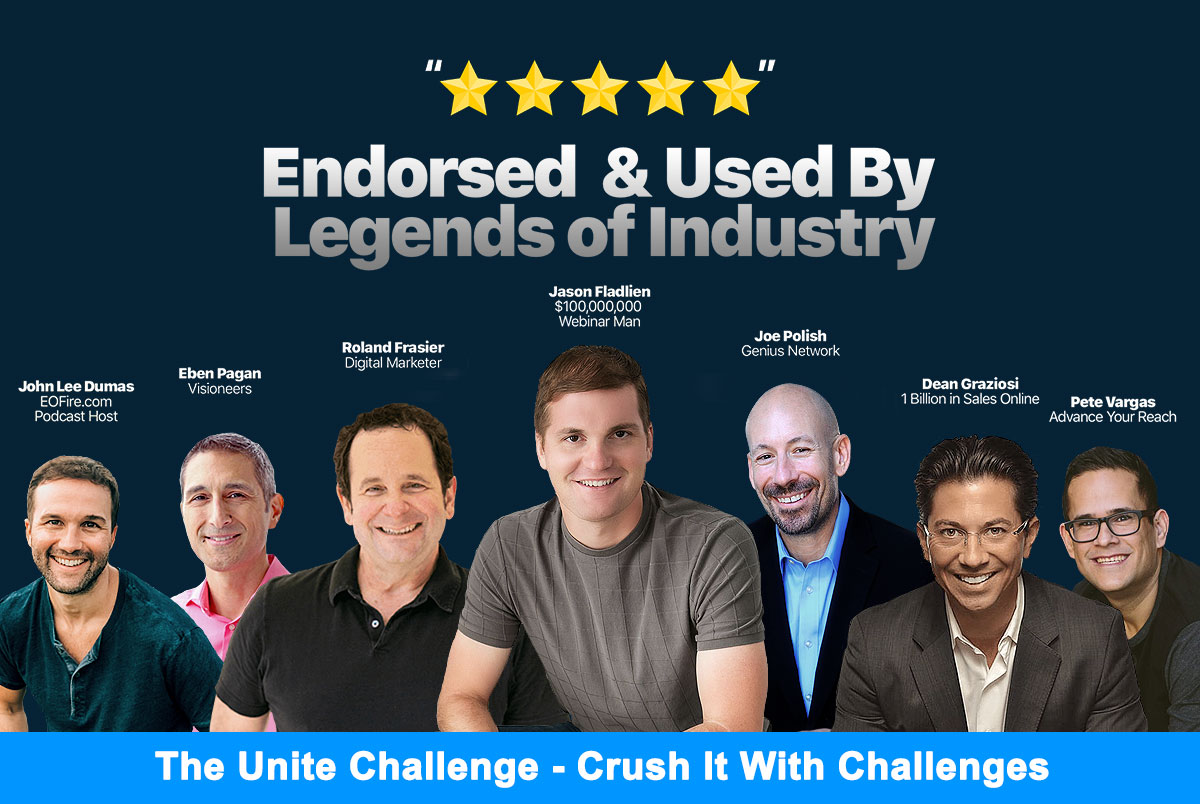 Crush It With Challenges Endorsed * Used By Legends of Industry