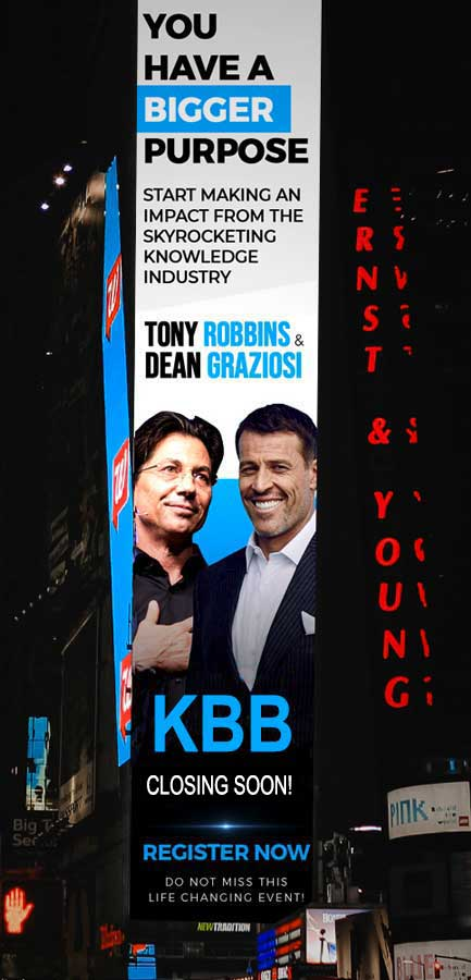 Reserve Your Special Webinar by Tony Robbins & Dean Graziosi