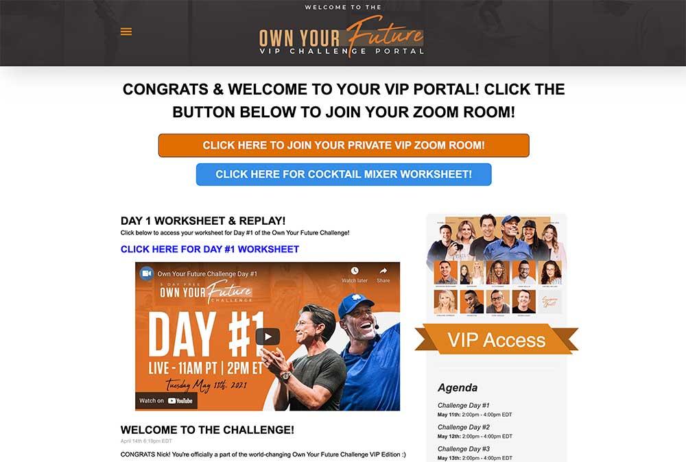 OYF Challenge VIP Experience