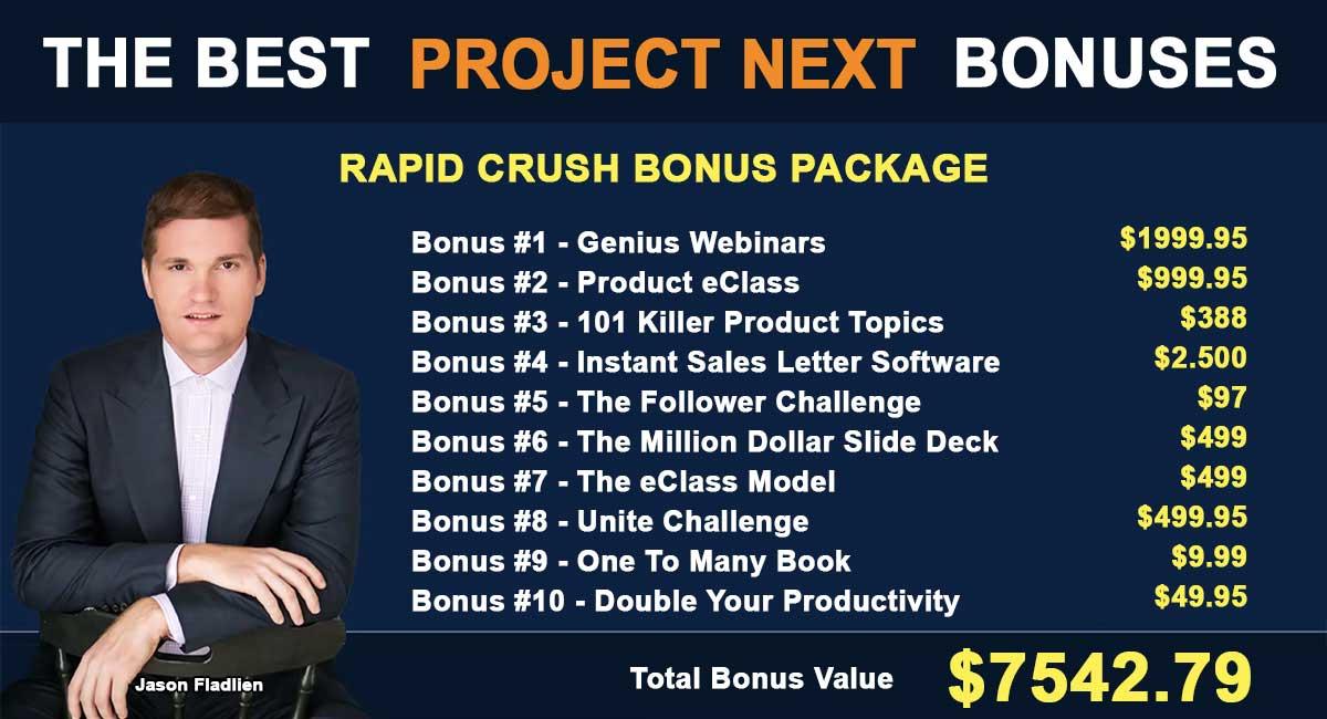 The Best Project Next Bonuses