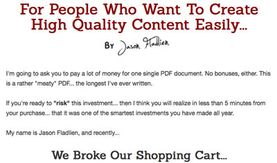 Jason Fladlien Content Forever