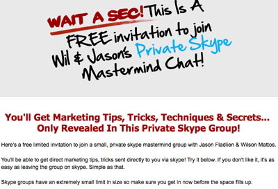 Jason Fladlien Skype Mastermind Group Invitation