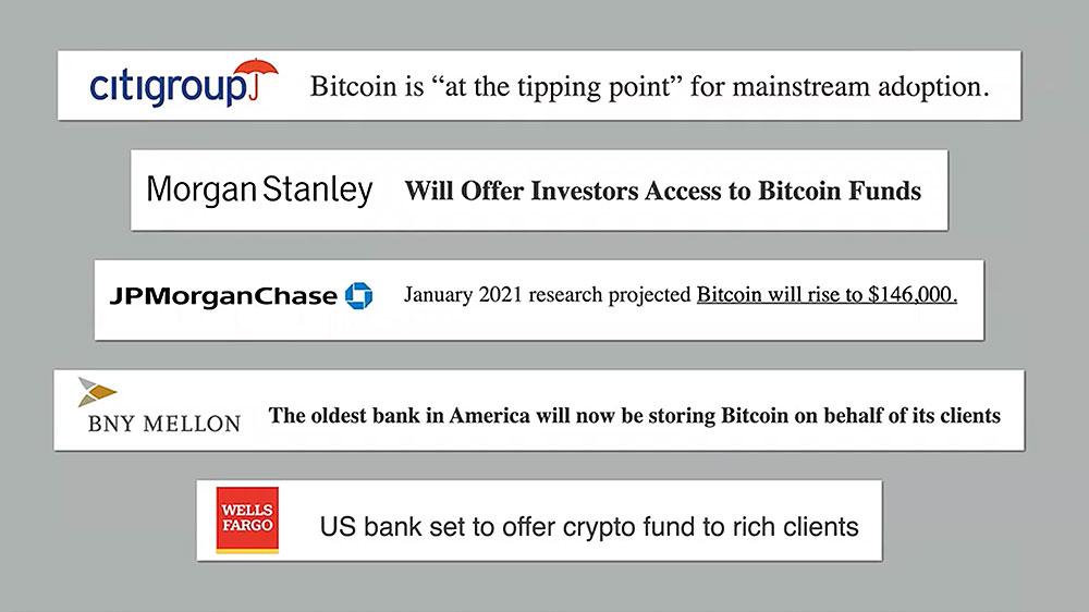 Major Banks & Bitcoin