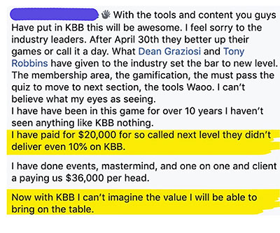 Knowledge Broker Blueprint Testimonials